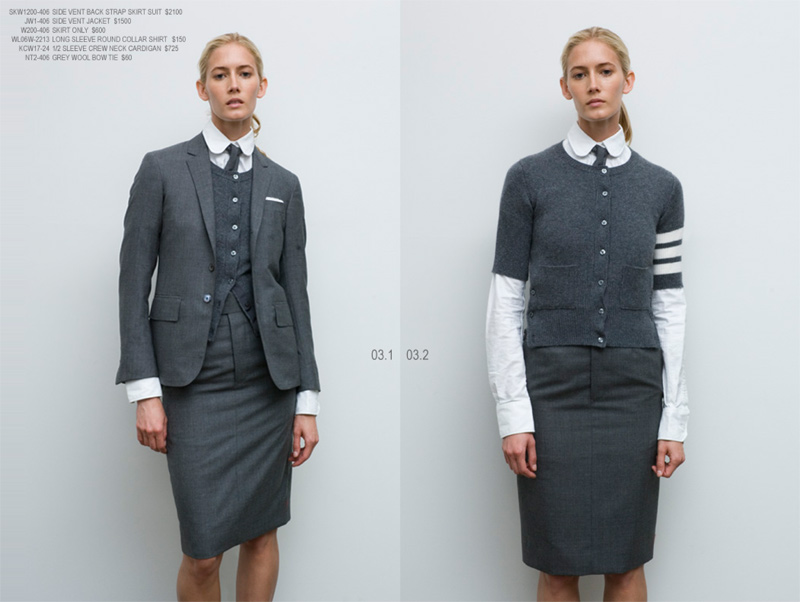 10 standardpricing 3 Thom Browne Women Spring/Summer 2008
