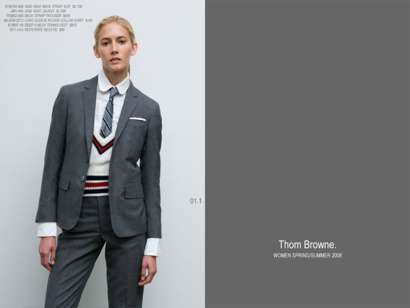 10 tblookbook01 Thom Browne Women Spring/Summer 2008