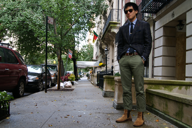 austin wong Uniqlo Olive Green Chinos